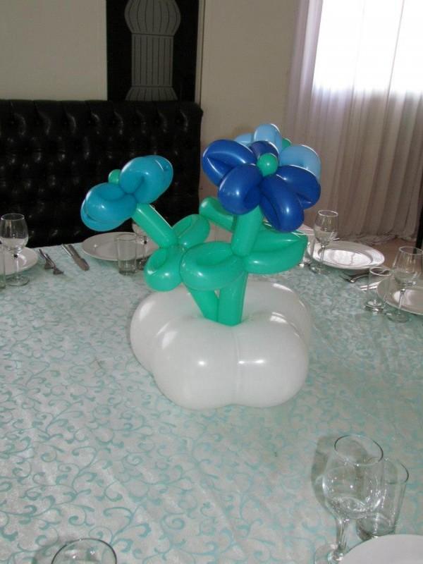 זר בלונים לשולחן