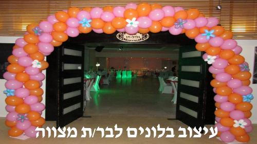 שער בלונים באירוע בר מצווה