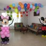 עיצוב דירה בבלונים ליום הולדת