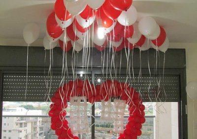 בלון בצורת לב ליום הולדת