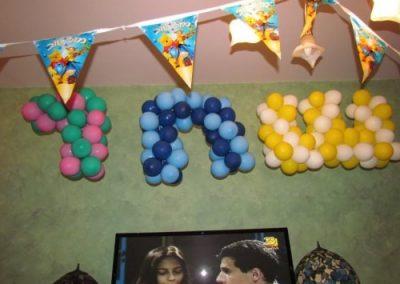בלונים בצורת אותיות ליום הולדת